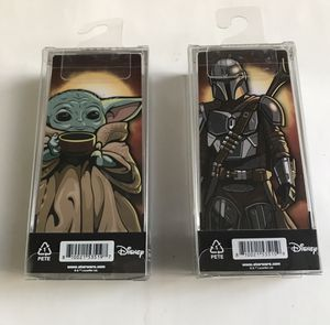 MANDALORIAN & The Child FIGPIN Set #508 #510 Star Wars DISNEY In Hand Ship Fast for Sale in Portland, OR