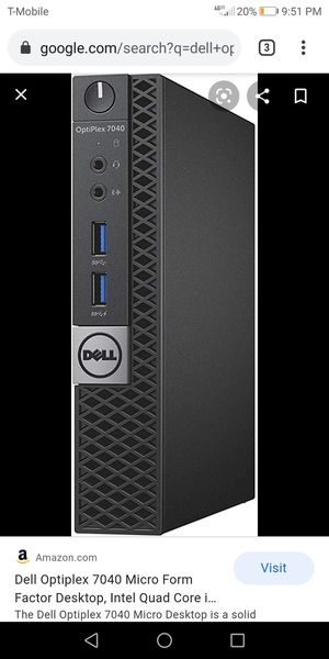 Dell optiplex 7040 micro desktop for Sale in McKinney, TX