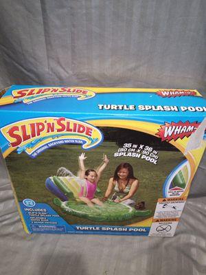 Kids turtle splash pool and slide for Sale in Lawrenceville, GA