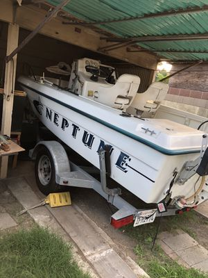 Omc Neptune 1997 Fishing Boat (proof of maintenance) 18 foot boat Comes with New Galvanized Trailer 115 Horse Power /power Trim Bate Tank Tags on t for Sale in Los Angeles, CA