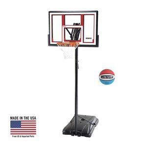 lifetime adjustable portable basketball hoop (rubber basketball included) for Sale in Austin, TX