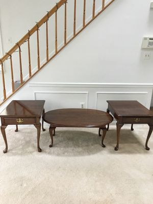 3 piece solid wood coffee table set Queen Anne style from Pennsylvania House for Sale in Oakton, VA