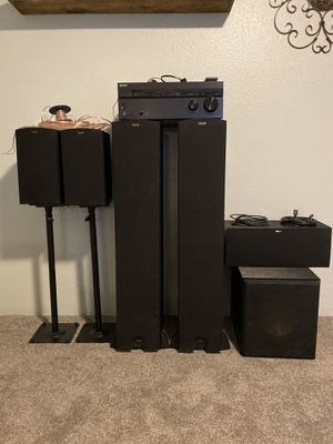 Klipsch Speaker system with Sony receiver for Sale in Fife, WA