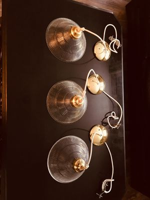 Chandelier pendant lights. You can repaint the gold for Sale in Orlando, FL