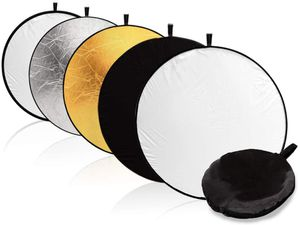 """(BRAND NEW) $20 - 43"""" Photography Photo Video Studio Lighting Disc Reflector, 5-in-1, 5 Colors, Black, White, Gold, Silver, Translucent for Sale in Pomona, CA"""