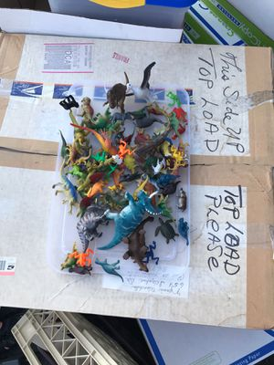 Plastic play toys animals dinosaurs for Sale in Herndon, VA