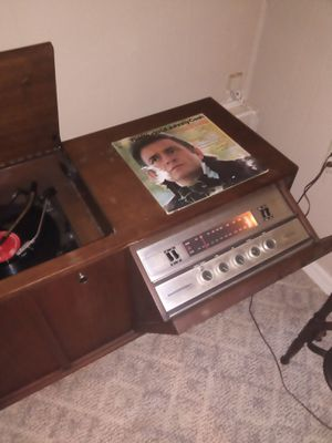 Record/radio receiver console with lots of records included for Sale in Silver Springs, FL