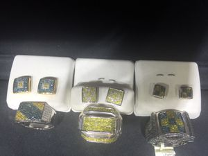 Diamond rings and earrings for Sale in New York, NY