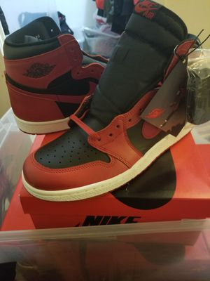 Ds Jordan 1s 85 varsity red size 12 damage box for Sale in Washington, DC