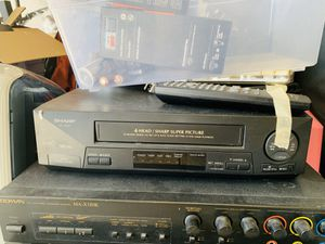 Sharp VCR VC-A410 4 Head VCR for Sale in Los Angeles, CA