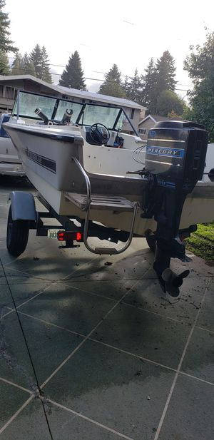 1978 silver line boat 65hp mercury trailer everything work good for Sale in Renton, WA