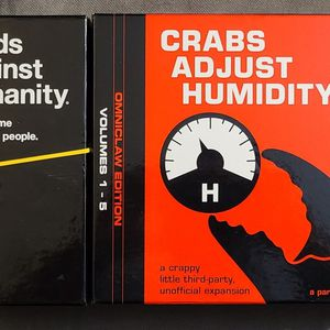 Cards Against Humanity/Crabs Adjust Humidity Game Set for Sale in Silver Spring, MD
