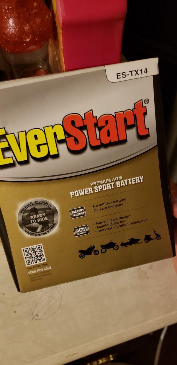 Battery Everstart Power Sport ES-tx14