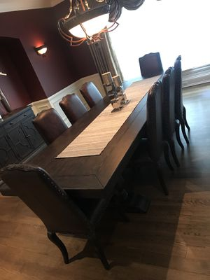 Luxury Furniture - 8 piece dining room set with buffet for Sale in Ashburn, VA