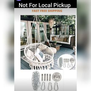 Hammock Chair Porch Swing Hanging Cotton Rope Chair for Home Patio Furniture Deck Yard Garden Decor for Sale in Chicago, IL