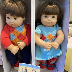 Bitty Baby Twins Brunette Brown Hair And Eyes With Box for Sale in Riverside, CA