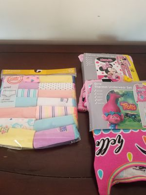 Size 10 Girls Thermal Pjs and underware $25 for Sale in Garden Grove, CA