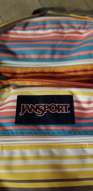 """Just in time for back to school. Brand new JanSport Big Student Backpack """" MULTI SUNSET STRIPE"""" for Sale in Fontana, CA"""