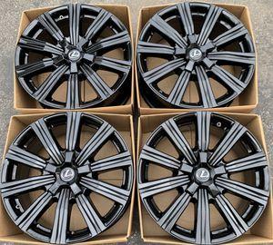 "21"" Lexus LX570 factory wheels rims gloss black new for Sale in Irvine, CA"