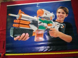 Nerf vinyl wall hanging - toy gun - blue + outdoor - indoor - rec - blue - green for Sale in Naples, FL