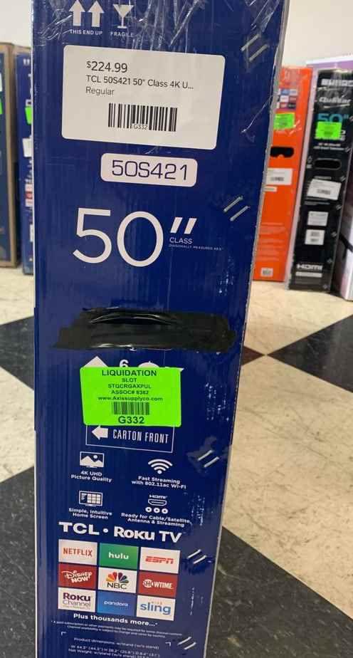 """Brand New TCL ROKU TV! 50"""" w/ warranty. Open box 7"""