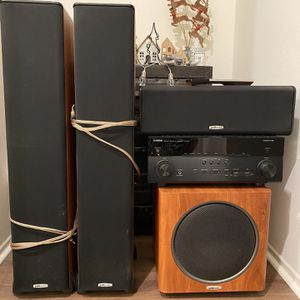Home Theater Yamaha RX-A760 Receiver and Polk Audio Speakers for Sale in San Diego, CA