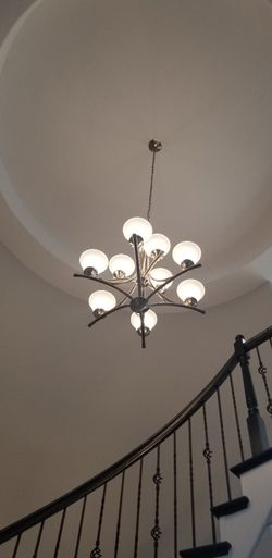 New Brushed Nickel 9, 5 & 3 lights chandelier for Sale in Plano,  TX
