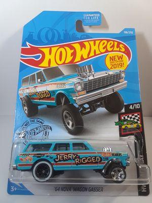 Hot Wheels *CUSTOM* '64 Nova Gasser Wagon with Real Riders 1:64th Scale Diecast car for Sale for sale  Menifee, CA