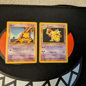 Pokemon - Abra 43/102 + Kadabra 32/102 - Base Set - NM 2x for Sale in Los Angeles, CA