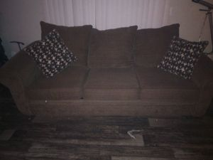 Chocolate Brown pull out sofa bed for Sale in Stone Mountain, GA