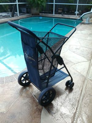 Wonder wheeler Easy foldable go cart big wheel dolly nice! Marine boat rv shopping beach diving sports ball bag events mobile trash can many uses for Sale in Pompano Beach, FL