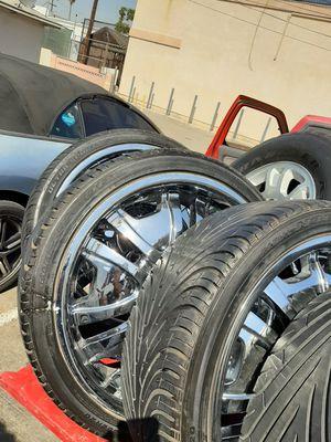 Juego de rrines para carros Toyota masda Chevrolet geetas unibersales 5birlos llantas muybuenas medida 20 for Sale in Pico Rivera, CA