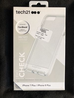 Tech21 Evo Check iPhone 7/8 PLUS clear/white case for Sale in North Las Vegas, NV