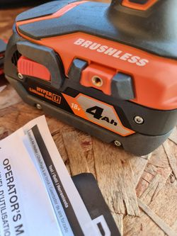 Ridgid RIDGID18-Volt Gen5X Lithium-Ion Cordless Brushless Hammer Drill & Impact Driver Kit w/ (1) 4.0Ah Battery for Sale in Snohomish,  WA