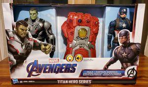 NEW Marvel Avengers Titan Hero Series: Hulk, Captain America, Electronic Gauntlet for Sale in Bridgewater, MA