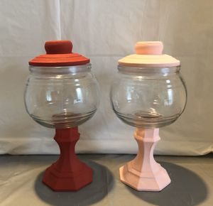 Red & Pink Chalk Paint Jars Set for Sale in Riverton, UT
