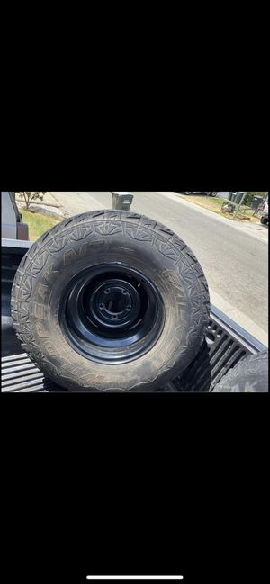 Jeep wheels and spare wheel carrier for Sale in Rio Linda, CA