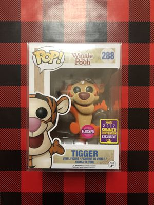Flocked Tigger SDCC 2017 Exclusive Funko POP! #288 Disney Winnie the Pooh for Sale in Milpitas, CA