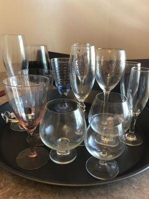 13 vintage wine glasses for Sale in Santa Maria, CA