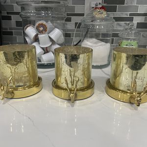 Gold Reindeer Candle Holders for Sale in Pomona, CA