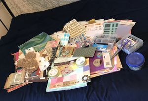 Huge lot of scrapbook paper and embellishments for Sale in Eau Claire, WI