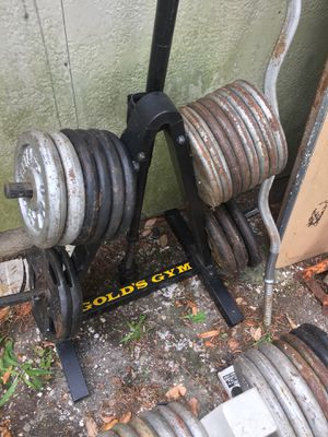 Weights, tree stands and bars for Sale in Houston, TX