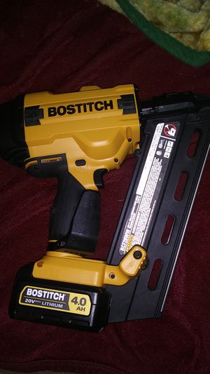 Bostitch 20 volt framing gun cordless brand new shoots two to three and a half inch nails for Sale in St. Louis, MO