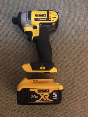 Dewalt 20v MAX Compact Drill & 5AH Battery for Sale in Calabash, NC