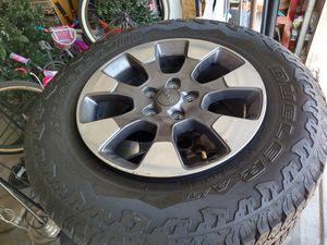 2020 Jeep Wrangler Rubicon 5 wheel set for Sale in North Las Vegas, NV