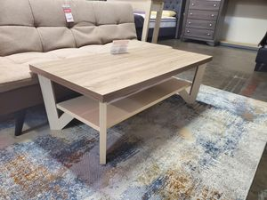 2-Piece Grace Coffee Table and End Table, Dark Taupe and Ivory for Sale in Huntington Beach, CA