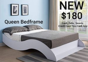Queen Bed Frame in White for Sale in Ontario, CA