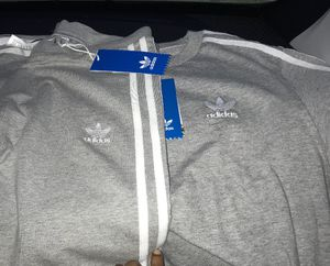 2 women's Adidas sets grey-size medium Red print set is small (50$ each set) for Sale in Portland, OR