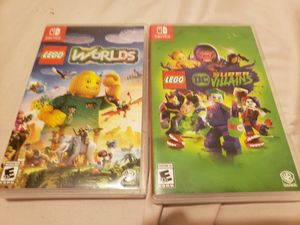 Nintendo Switch games . LEGO worlds and LEGO DC super Villians . New condition . for Sale in Frisco, TX