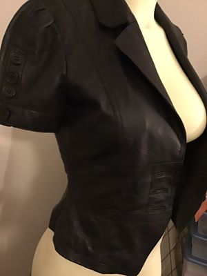 Leather black shirt jacket for Sale in Irvine, CA